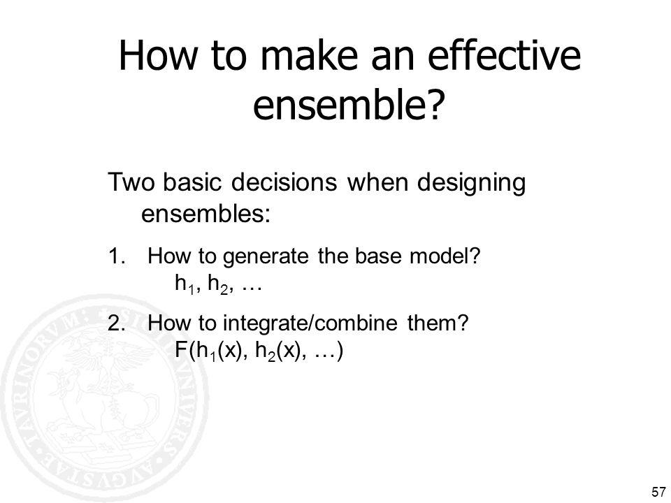 How to make an effective ensemble