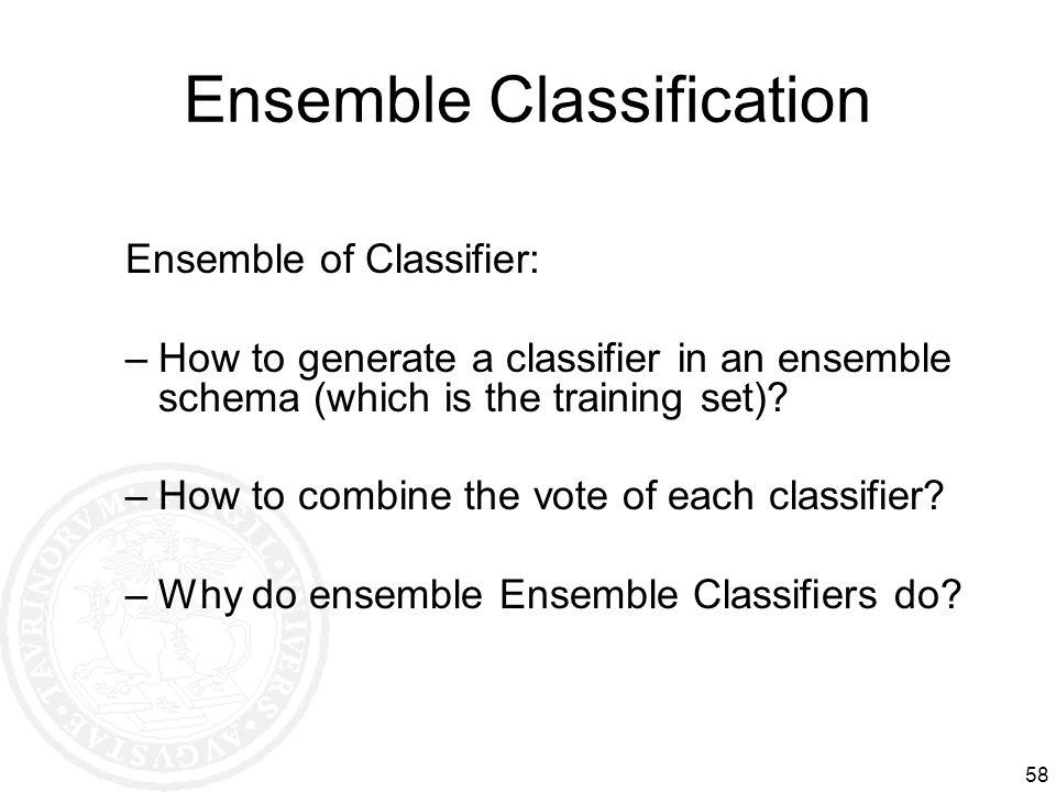 Ensemble Classification