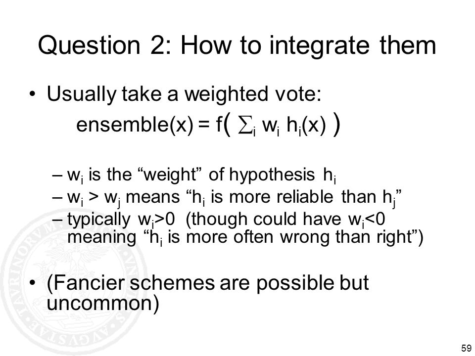 Question 2: How to integrate them