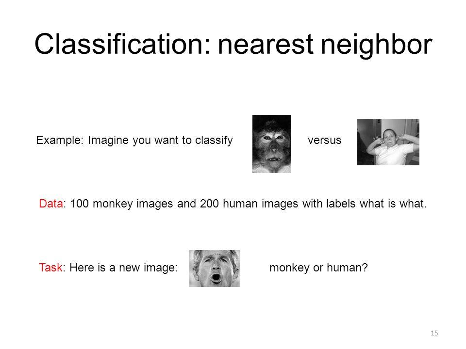 Classification: nearest neighbor