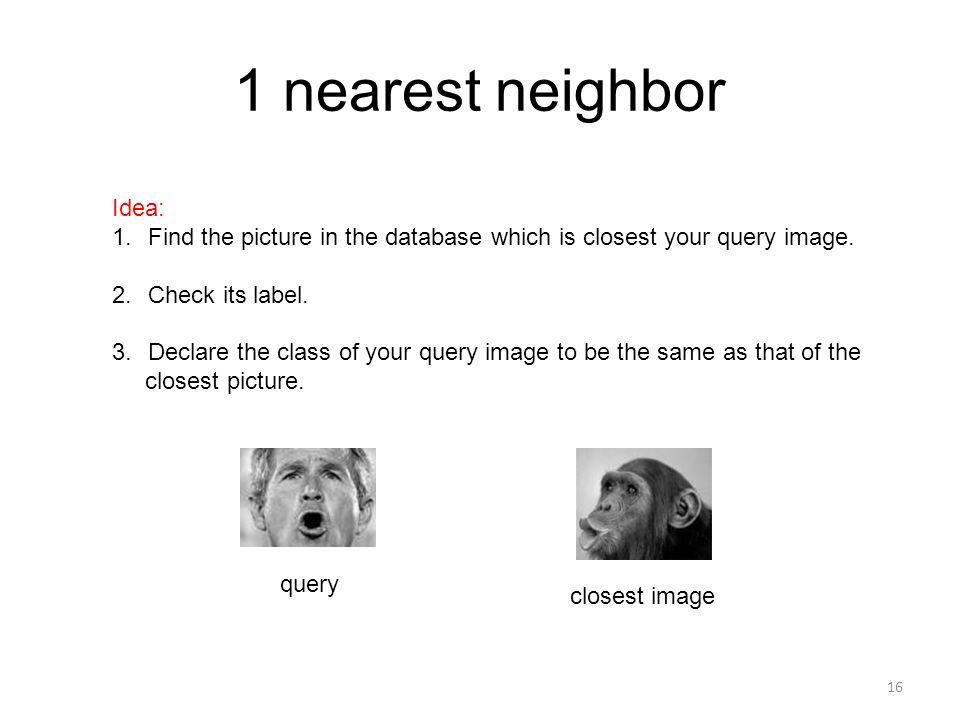 1 nearest neighbor Idea: