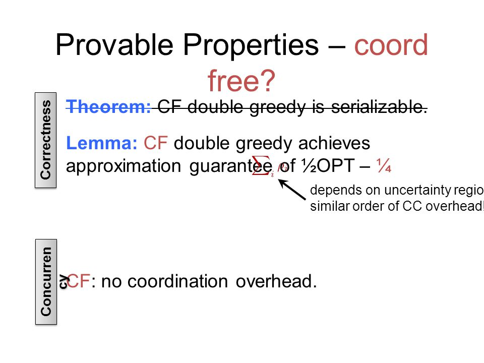 Provable Properties – coord free