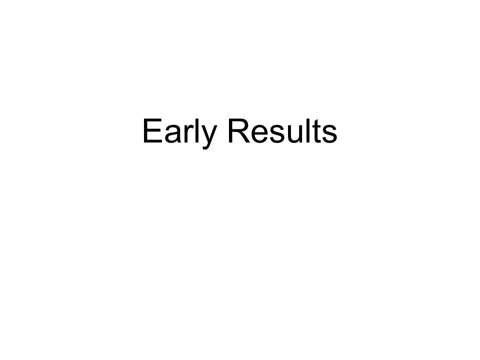 Early Results