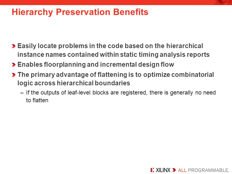 Hierarchy Preservation Benefits