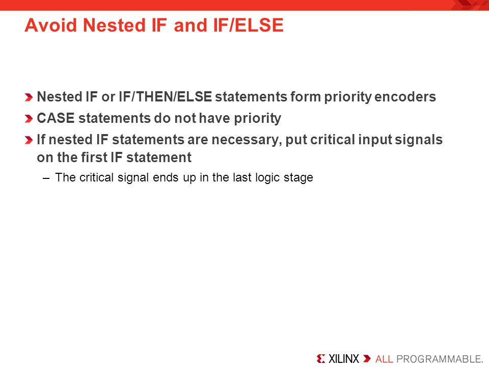 Avoid Nested IF and IF/ELSE