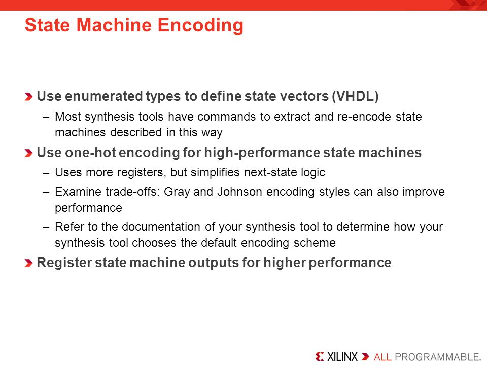 State Machine Encoding