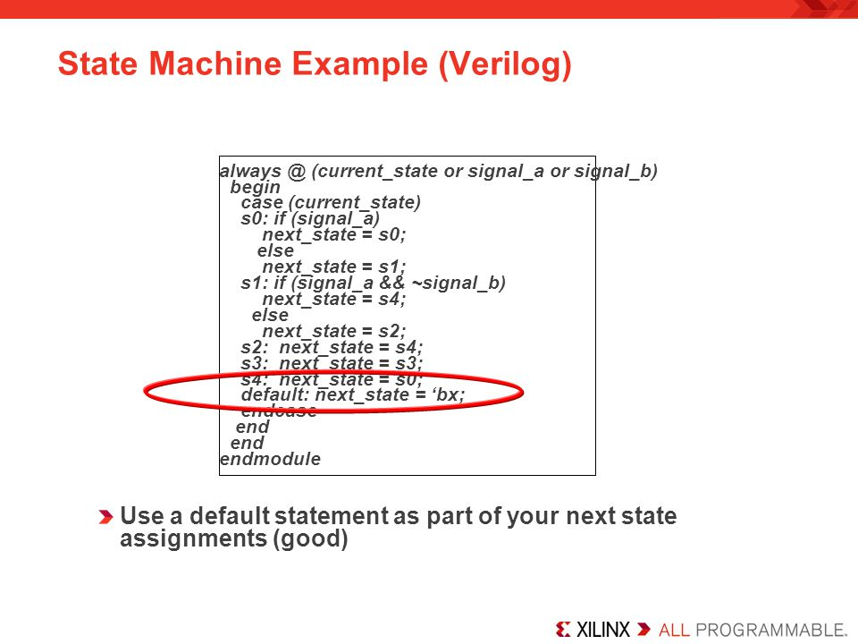 State Machine Example (Verilog)