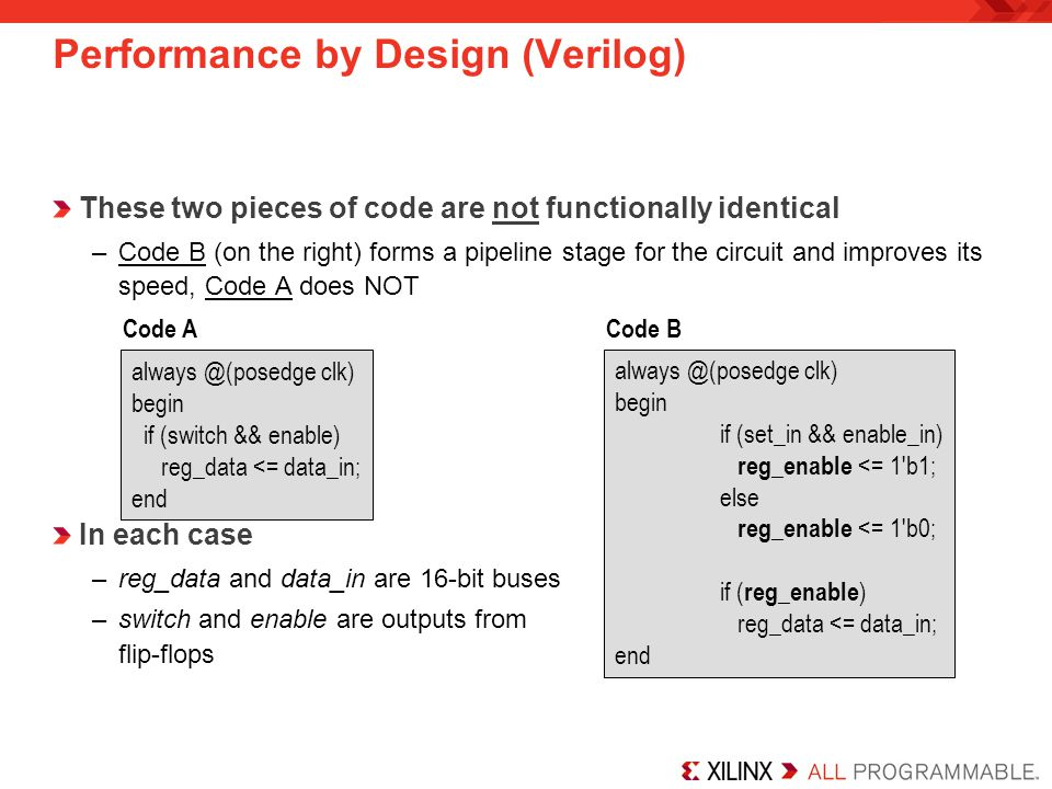 Performance by Design (Verilog)