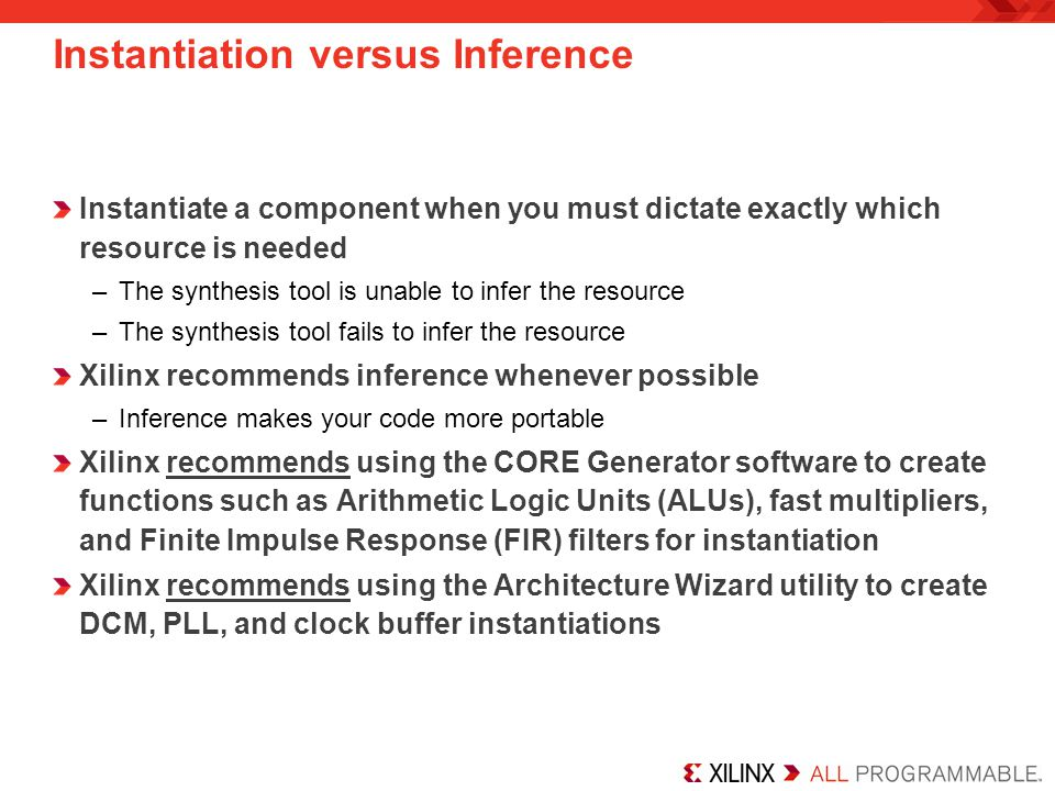 Instantiation versus Inference