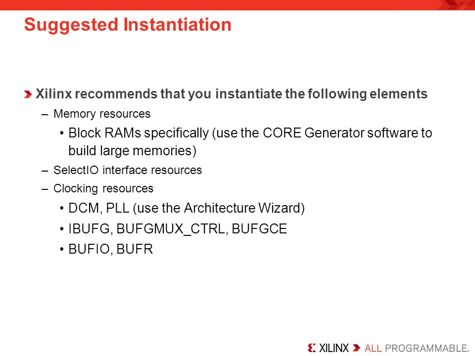 Suggested Instantiation