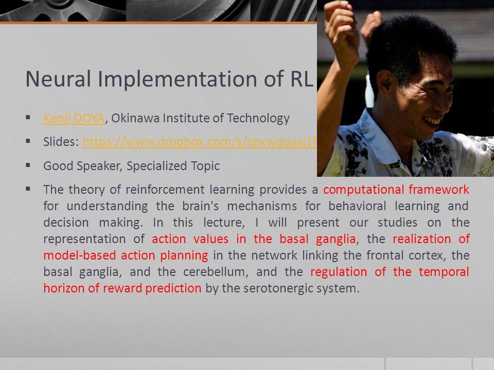Neural Implementation of RL