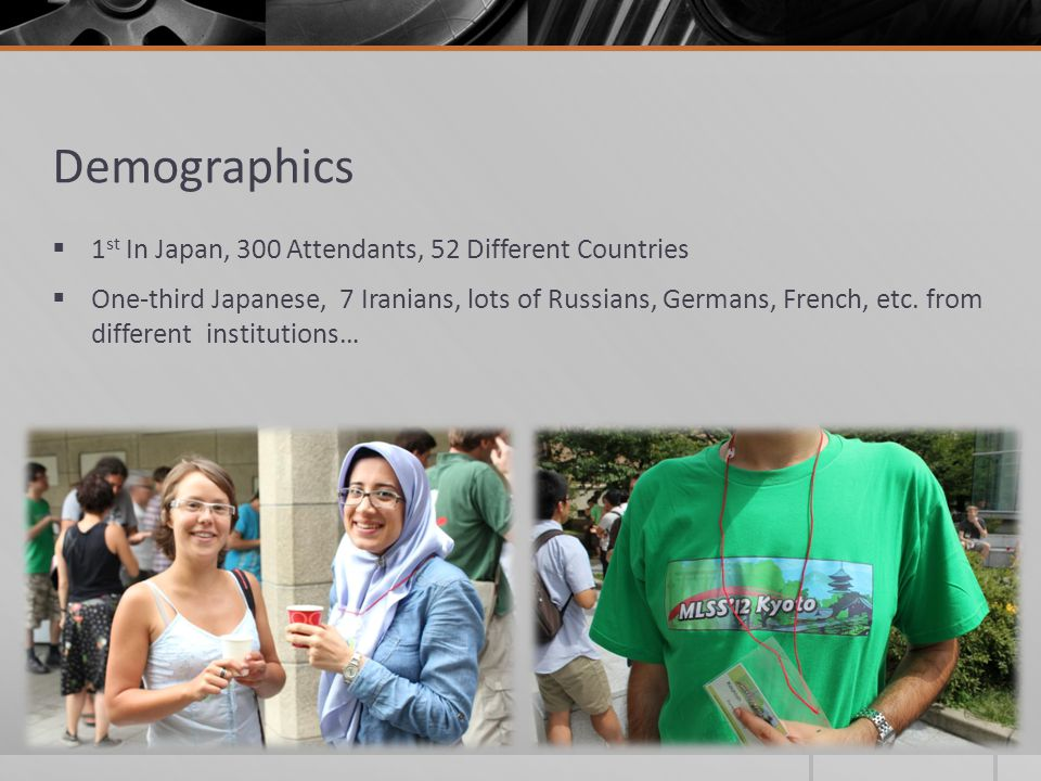Demographics 1st In Japan, 300 Attendants, 52 Different Countries