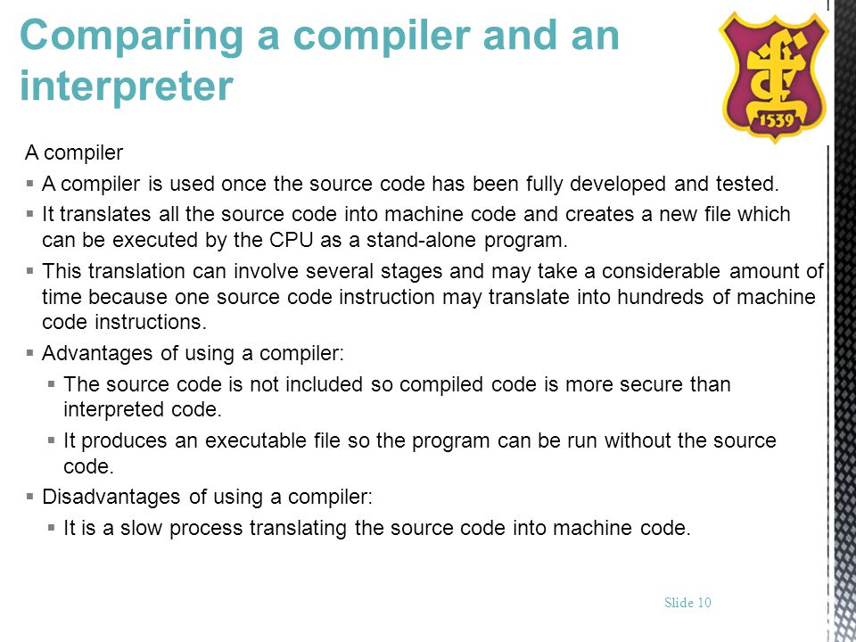 Comparing a compiler and an interpreter