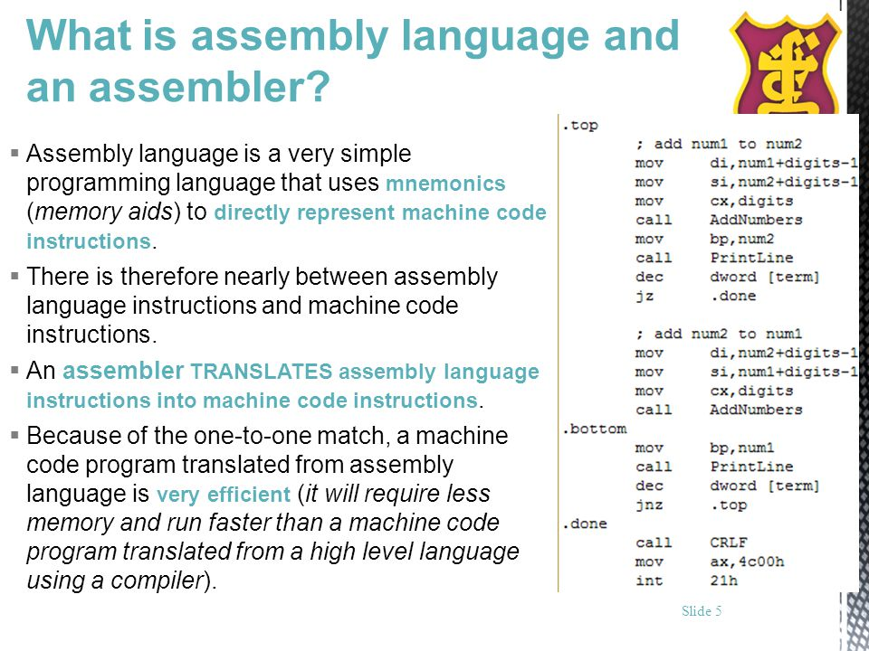 What is assembly language and an assembler