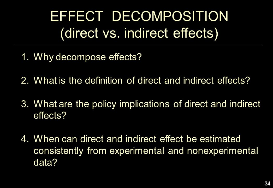 (direct vs. indirect effects)