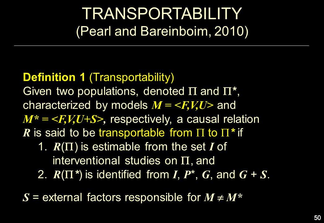 (Pearl and Bareinboim, 2010)