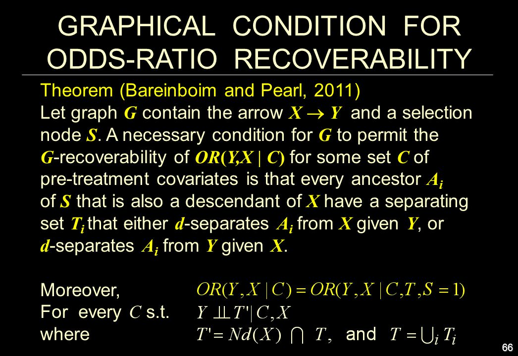 GRAPHICAL CONDITION FOR ODDS-RATIO RECOVERABILITY