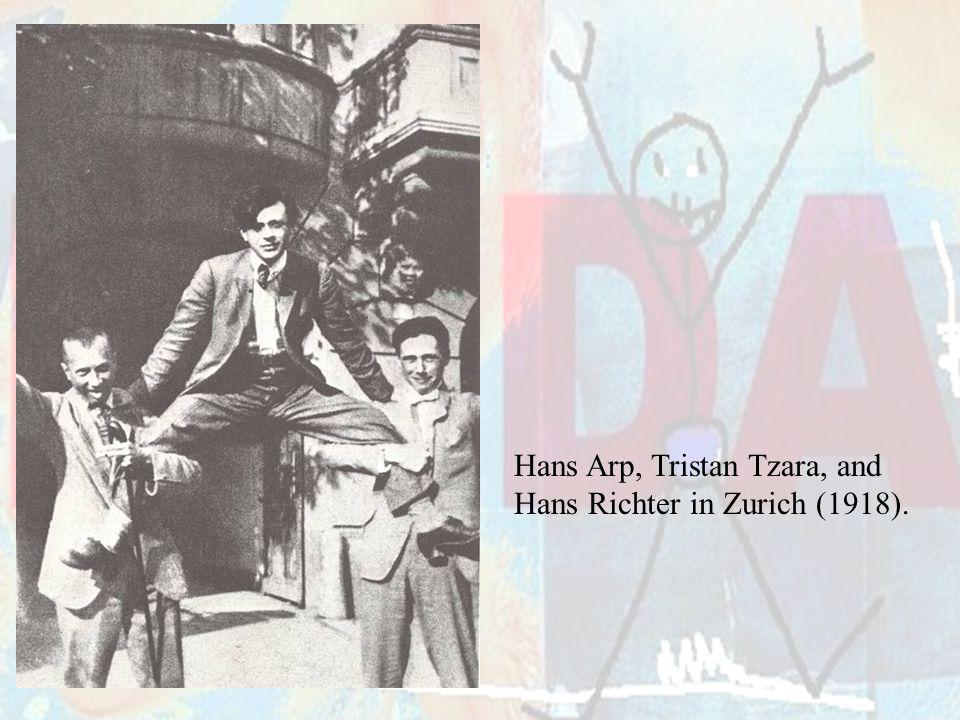 Hans Arp, Tristan Tzara, and