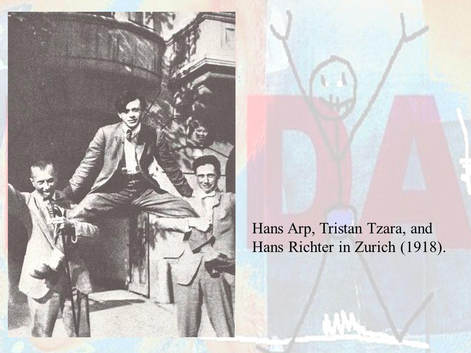 Hans Arp, Tristan Tzara, and
