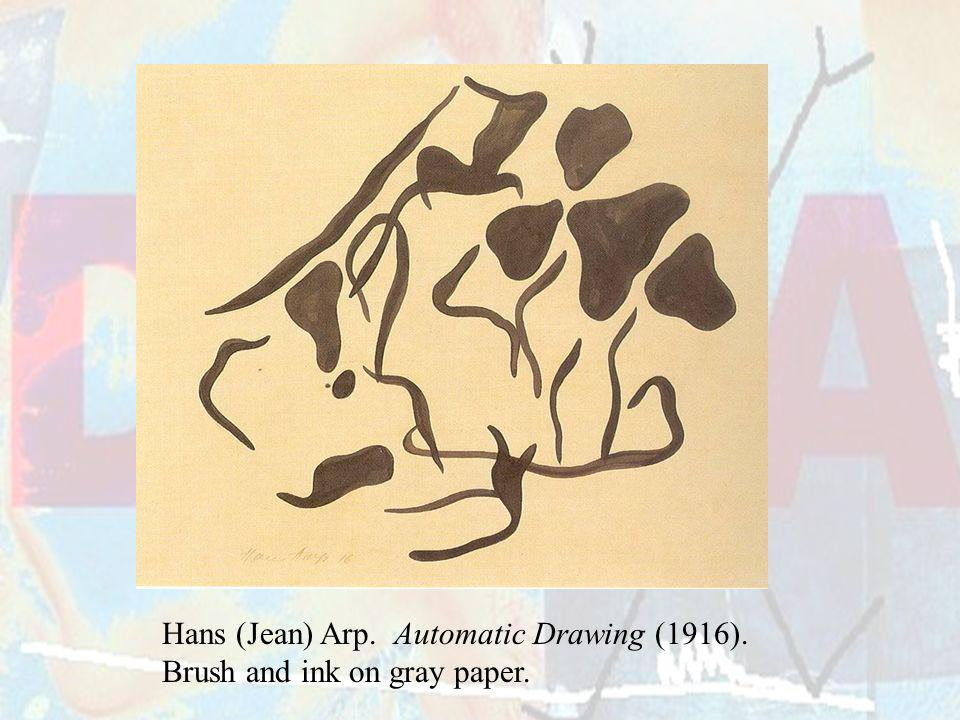 Hans (Jean) Arp. Automatic Drawing (1916).