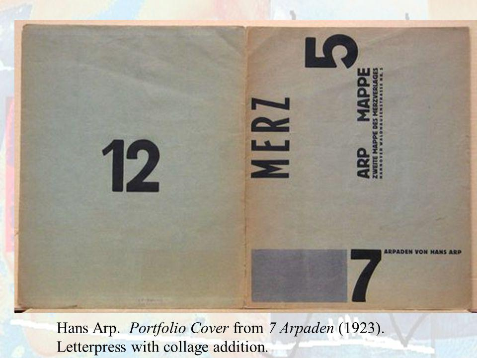 Hans Arp. Portfolio Cover from 7 Arpaden (1923)