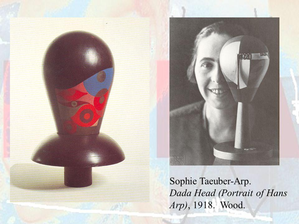 Sophie Taeuber-Arp. Dada Head (Portrait of Hans Arp), Wood.