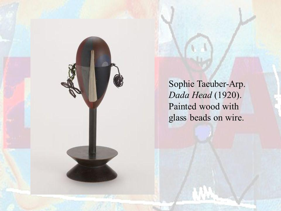 Sophie Taeuber-Arp. Dada Head (1920). Painted wood with glass beads on wire.