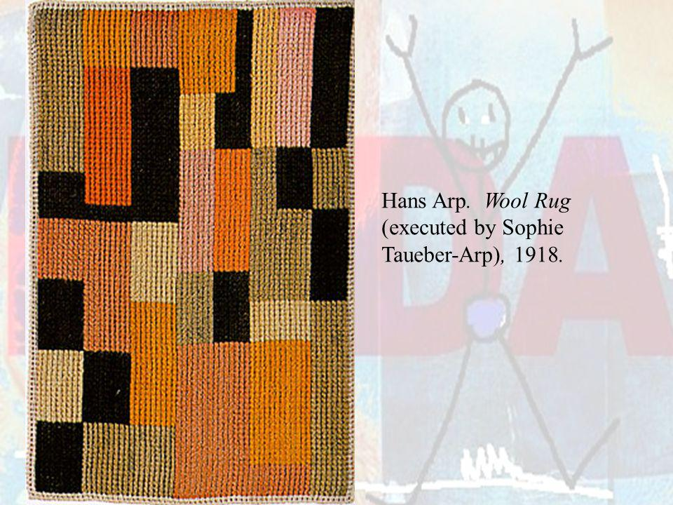 Hans Arp. Wool Rug (executed by Sophie Taueber-Arp), 1918.
