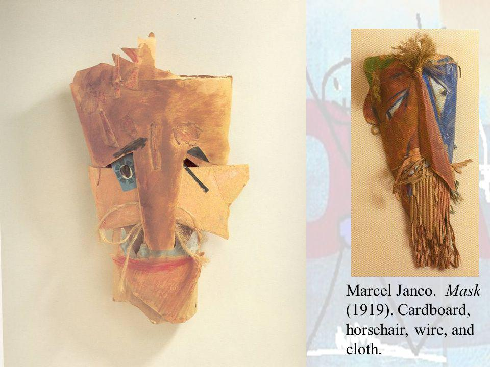 Marcel Janco. Mask (1919). Cardboard, horsehair, wire, and cloth.