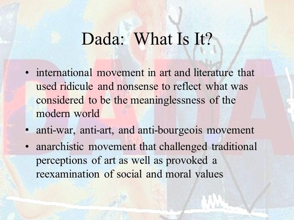 Dada: What Is It
