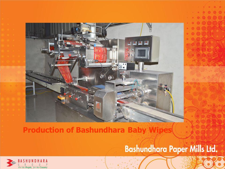 Production of Bashundhara Baby Wipes