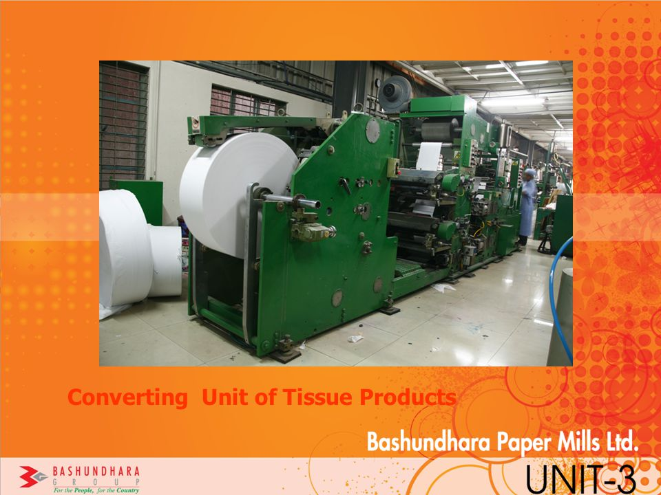 Converting Unit of Tissue Products