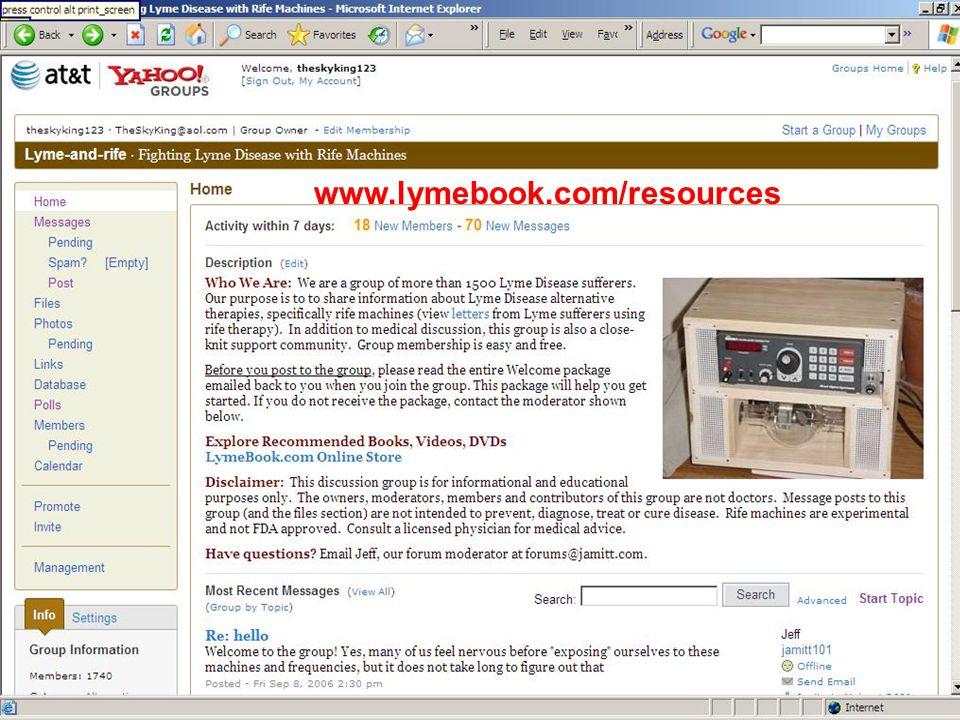 www.lymebook.com/resources
