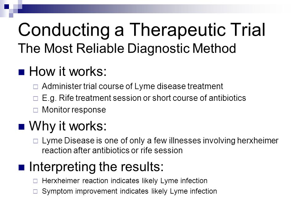 Conducting a Therapeutic Trial The Most Reliable Diagnostic Method