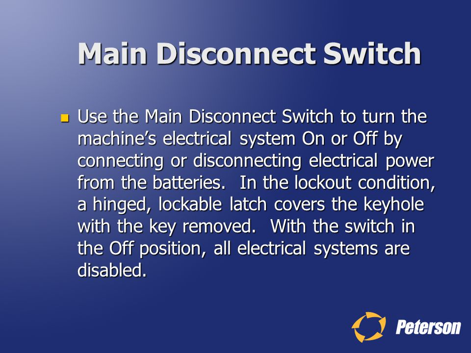 Main Disconnect Switch