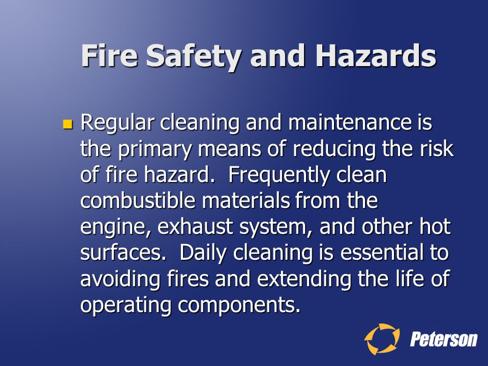 Fire Safety and Hazards