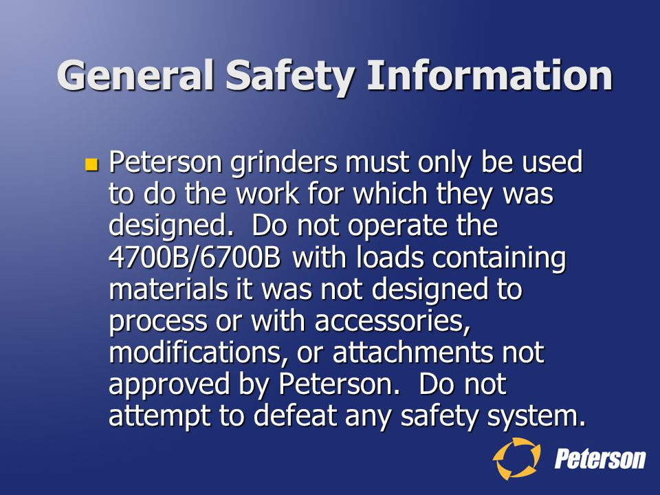 General Safety Information