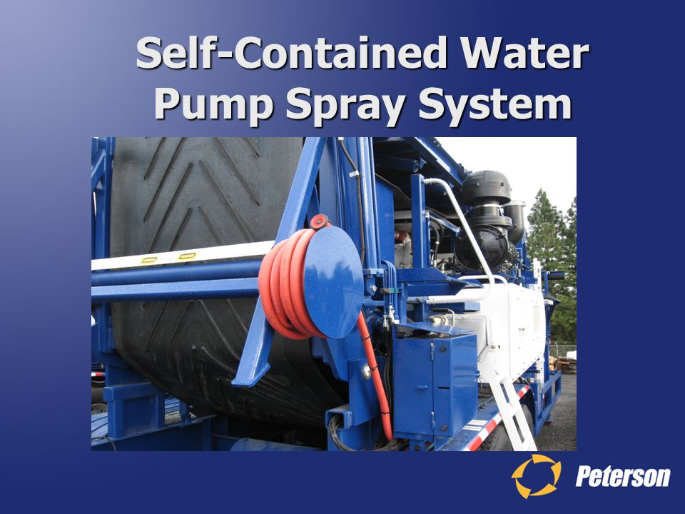 Self-Contained Water Pump Spray System