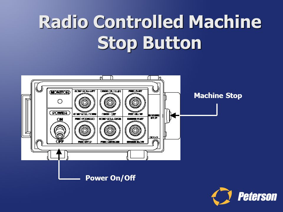 Radio Controlled Machine Stop Button