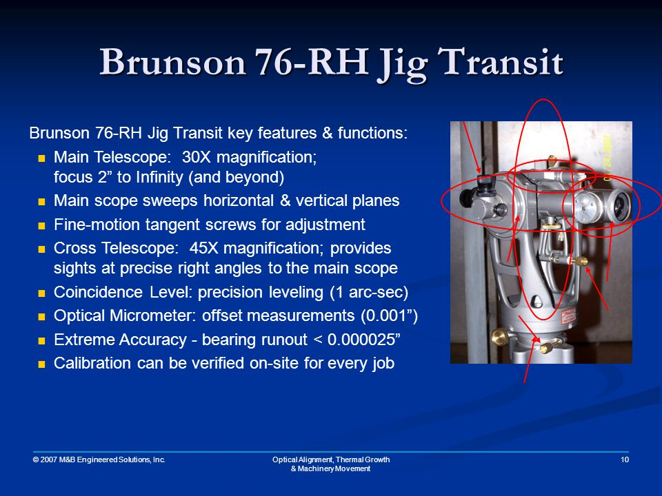 Brunson 76-RH Jig Transit