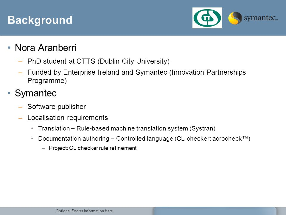 Background Nora Aranberri Symantec