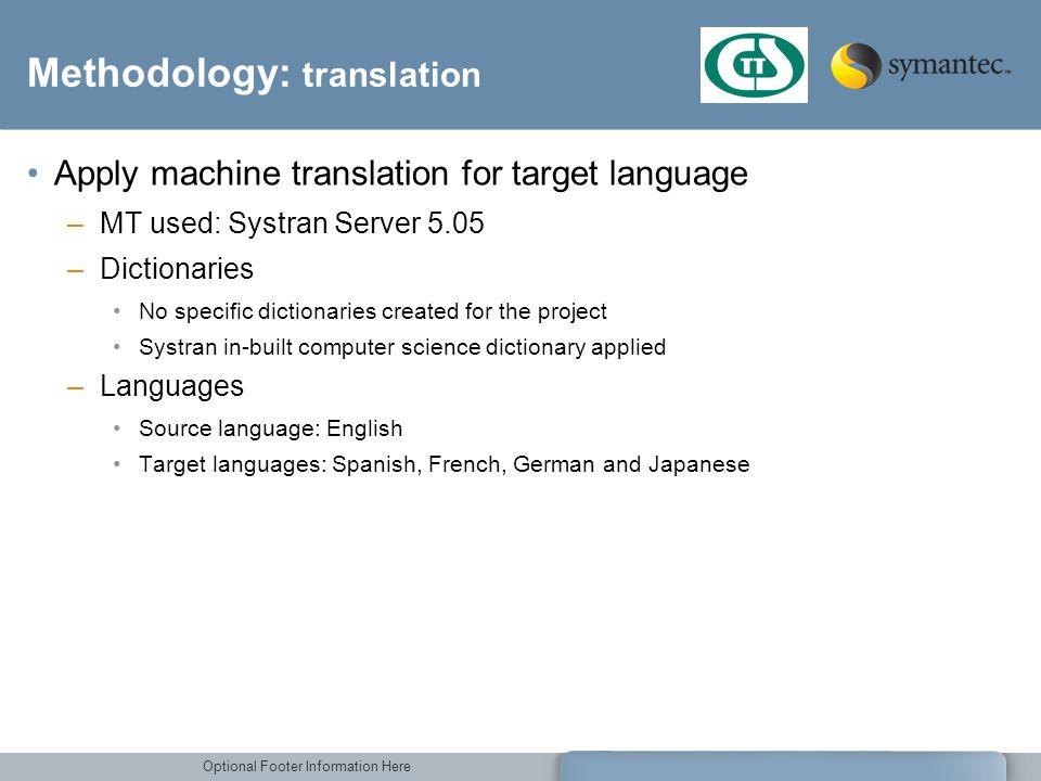 Methodology: translation