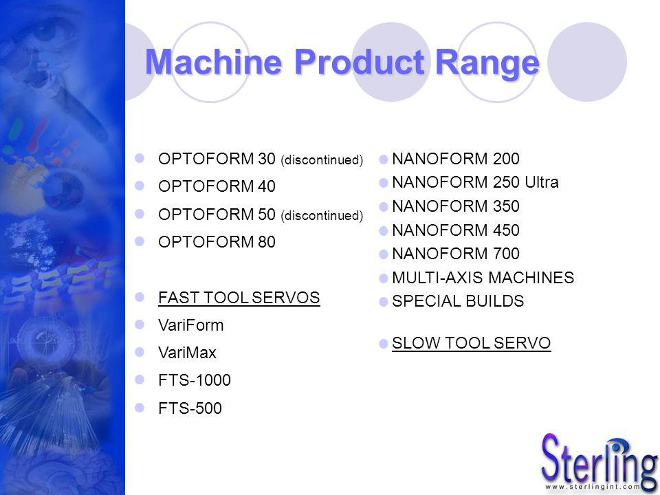 Machine Product Range OPTOFORM 30 (discontinued) OPTOFORM 40