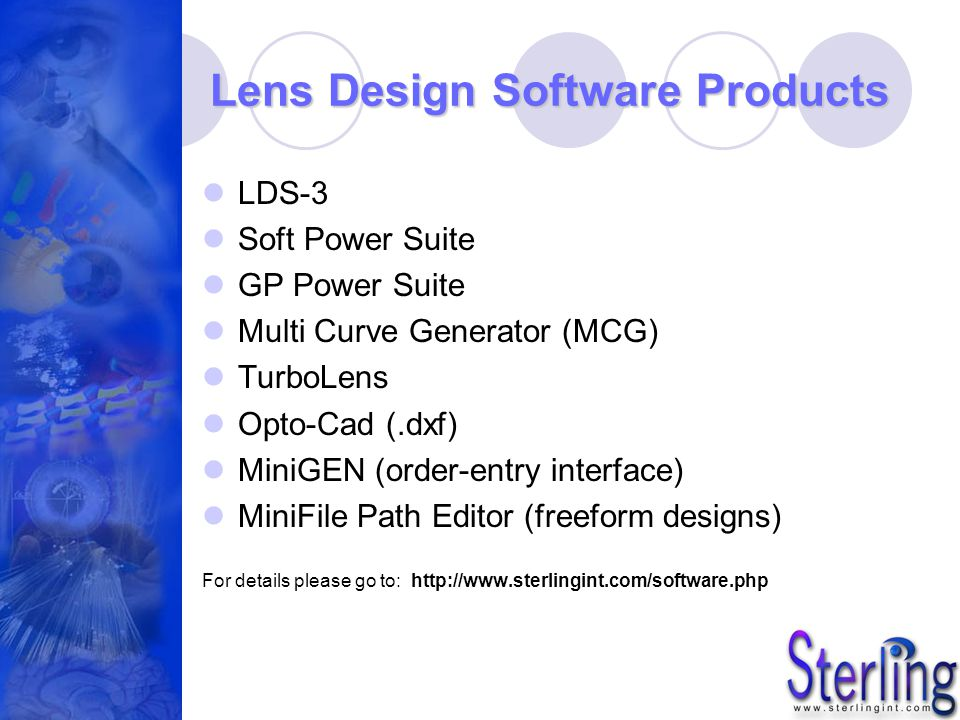Lens Design Software Products