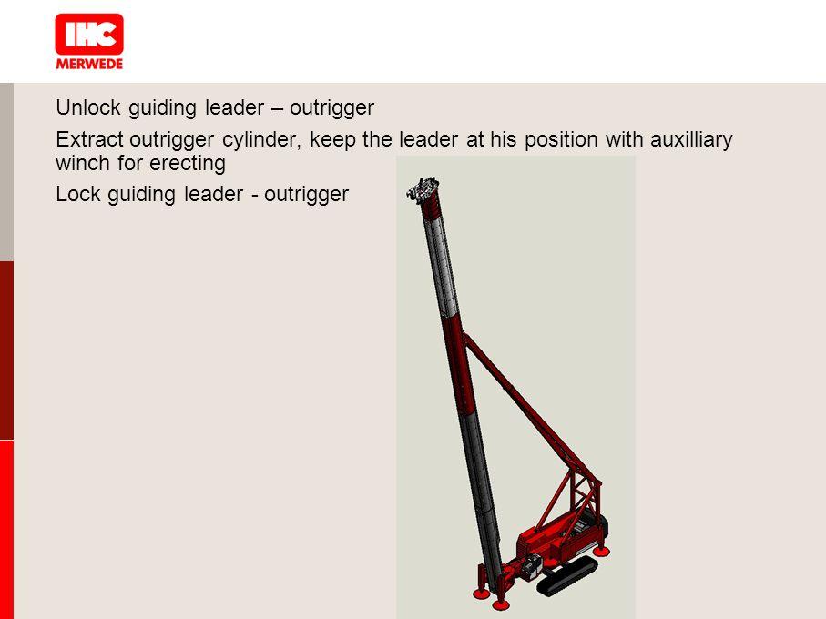 Unlock guiding leader – outrigger