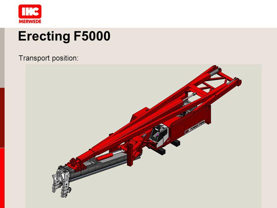 Erecting F5000 Transport position: