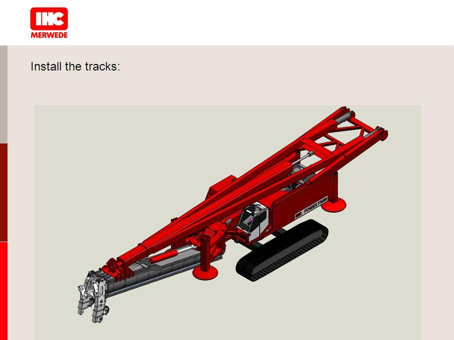 Install the tracks: