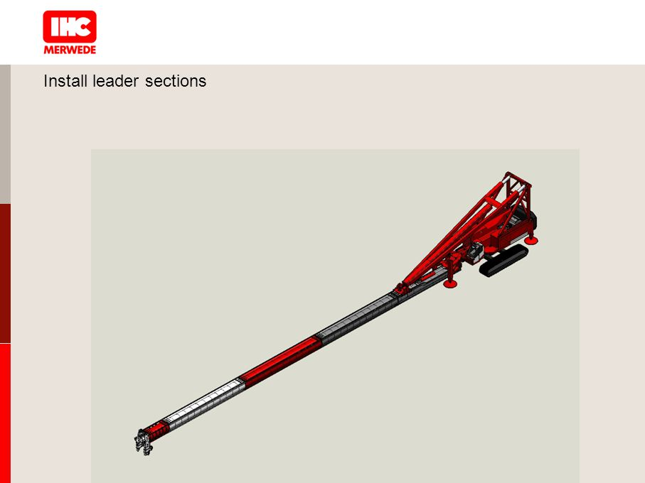 Install leader sections