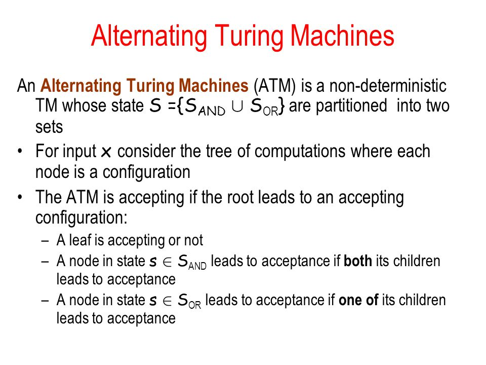 Alternating Turing Machines