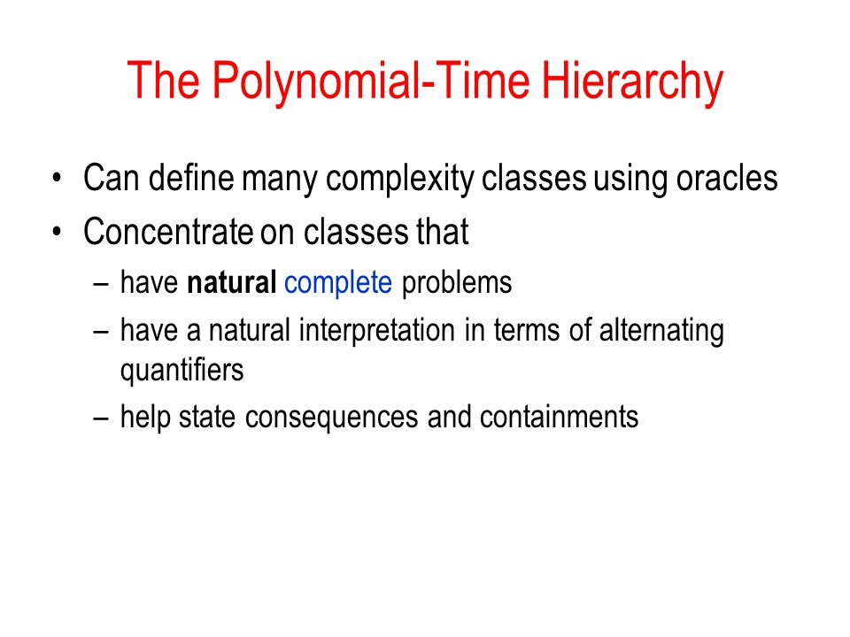 The Polynomial-Time Hierarchy
